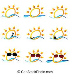 sun illustration for logo