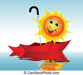 Sun in an umbrella
