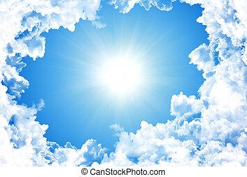 Sun in bright blue sky