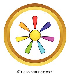 Sun in colours of LGBT vector icon