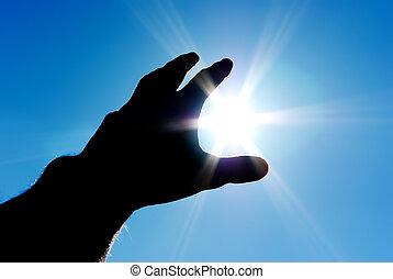 Sun in control - Sun in hand. Conceptual design.