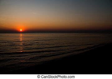 Sun in sunset