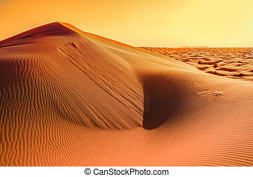 Sun in the sand dunes