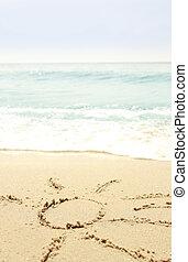 sun in the sand on the beach