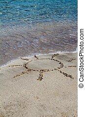 Sun in the sand