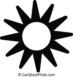 Sun in the sky icon, simple style
