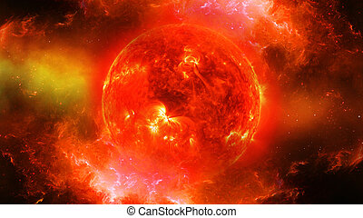 Sun in universe or space in nebula - Sun in universe or...
