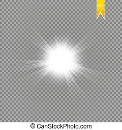 Sun isolated on transparent background. Vector illustration
