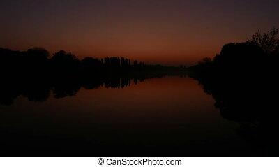 Sun lake sunset water - Sun lake dawn sunset river