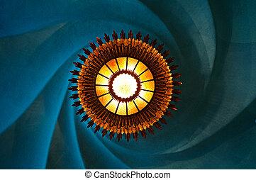 Sun Lamp in Casa Batllo designed by Gaudi
