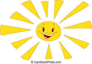 sun laughs - illustration of a sun laughs
