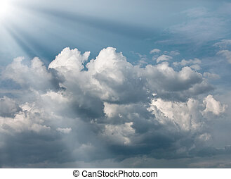 Sun light and clouds
