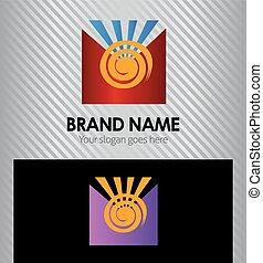 Sun logo design template element