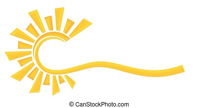 Sun Logo. - A logo of the bright stylized sun.
