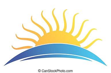 sun Logo in the sea.