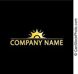 Sun Logo With Golden Effect
