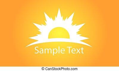 Sun logo with text