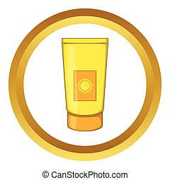 Sun lotion vector icon