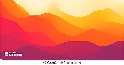 sun., montagneux, illustration., terrain., arrière-plan.,...