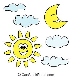 sun moon illustrations and stock art 21 510 sun moon illustration rh canstockphoto com free sun moon and stars clipart Sun and Moon Coloring Pages
