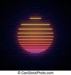 Sun neon sign.
