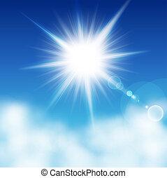 Sun on  a blu sky