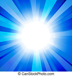 sun on a blue background