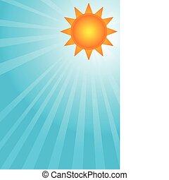 Sun on a blue sky
