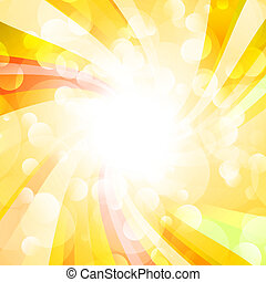 sun on a yellow  background