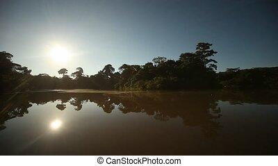 Sun On Amazon River - Peque Peque On Amazon River