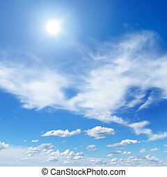 sun on beautiful sky