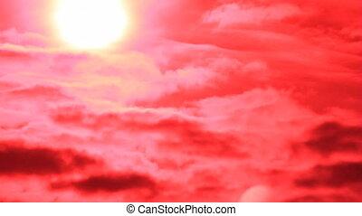 Sun on the red sky