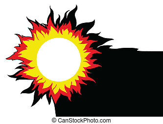 sun on white background, vector illustration
