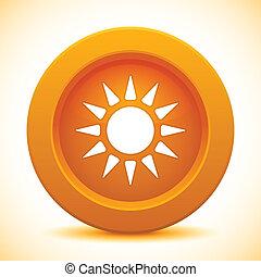 Sun orange button
