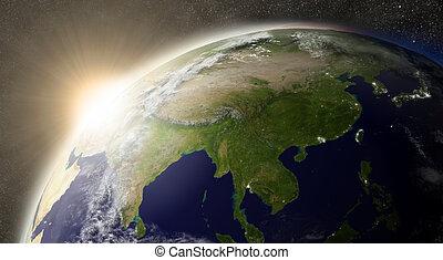 Sun over East Asia