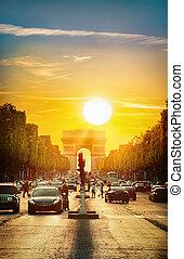 Sun over Paris