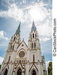 Sun Over Saint John the Baptist Church