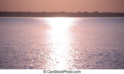 Sun path or way of light on water surface