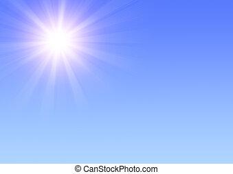 Sun  - Bright sun in the blue sky