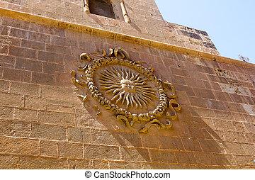 SUN PORTOCARRERO OBISPO CATHEDRAL OF ALMERIA, SPAIN