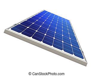 sun-power plant isolated