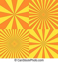 Sun ray background set