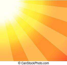 sun rays closeup illustration