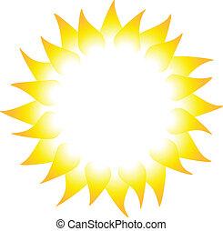 Sun rays isolated on white background. Vector illustration