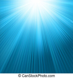 Sun rays on blue sky template. EPS 8 vector file included
