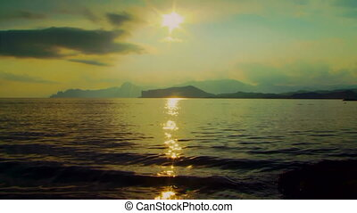 Sun rays on the sea surface