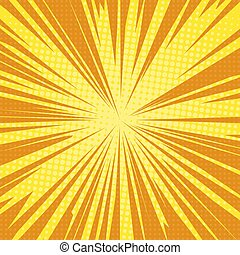 sun rays pop art retro background