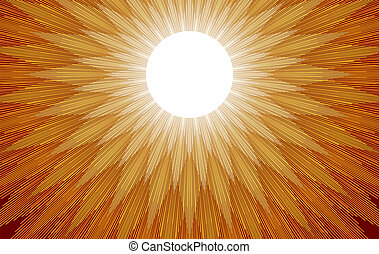 Sun Rays - Gold and yellow light rays spread out when the...