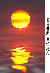 Sun reflected