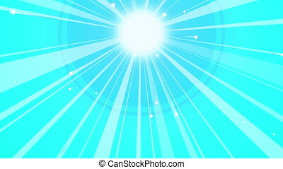 """""""Sun Retro Background with Blue Beams"""" - """"A vintage 3d..."""